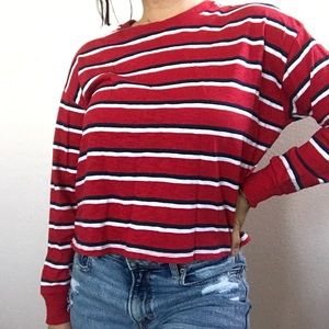 Hollister fro-color boyfriend tee long sleeve
